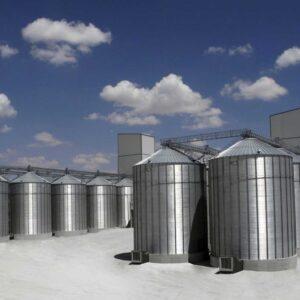 سیلوهای فلزی ذخیره غلات