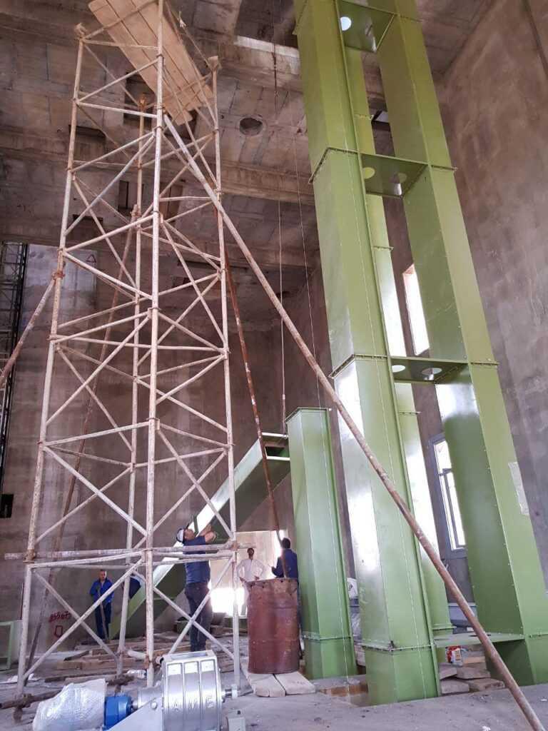 طراحی و ساخت تجهیزات انتقال سیلوی ۱۰۰ هزار تنی گرمسار